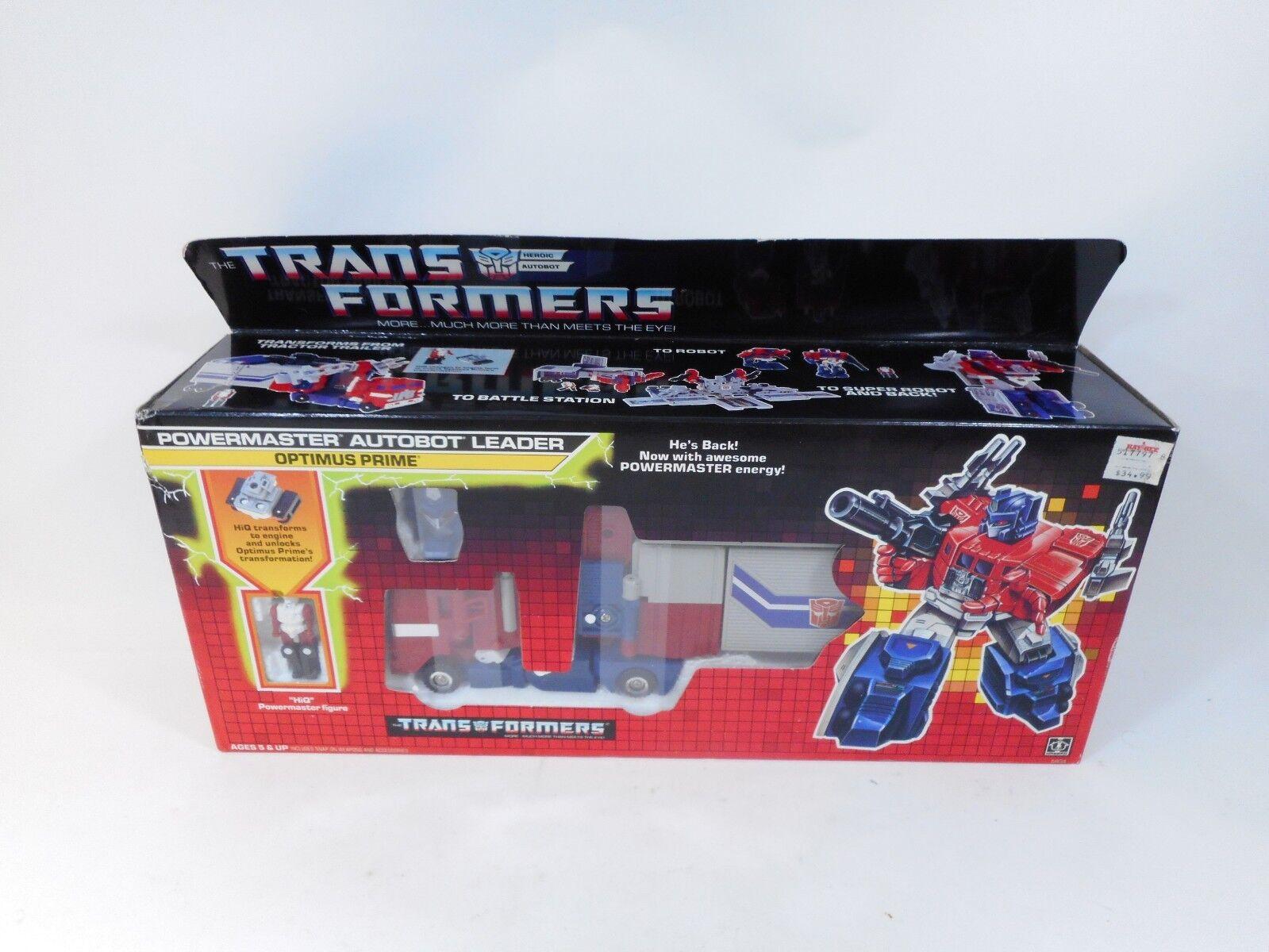 comprar nuevo barato Transformers G1 Optimus Prime Figura & & & hiq Powermaster sellado menta en caja HASBRO 1987  Garantía 100% de ajuste