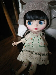 """12/""""Neo Blythe Doll Grey Hair Jonit Body Matte Face Nude Doll from Factory CA7005"""