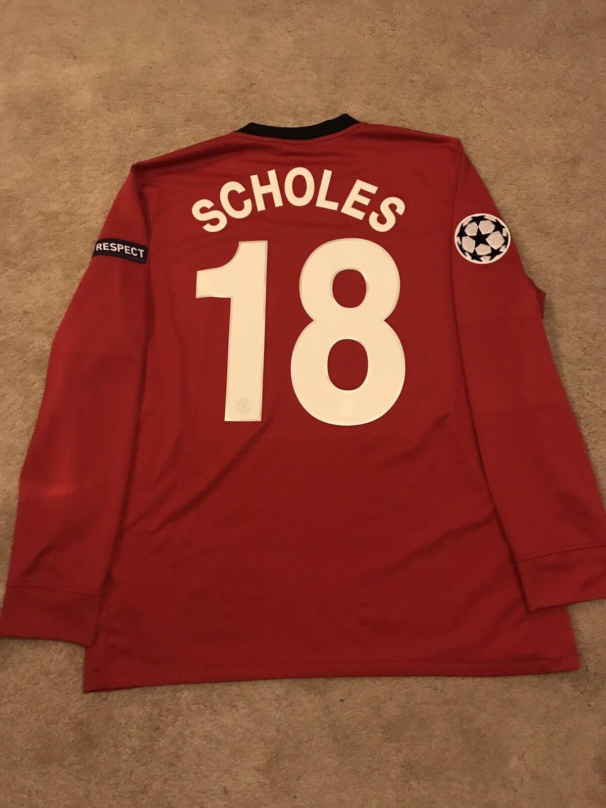 Manchester United Home Camicia 200910 adulto di grandi dimensioni L' 18 manica lunga
