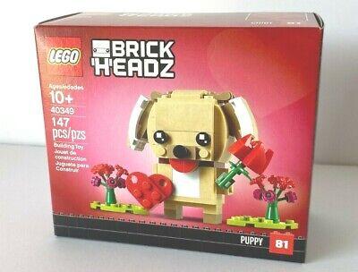 LEGO 40349 BrickHeadz Valentine/'s Puppy Rare New Easter Gift