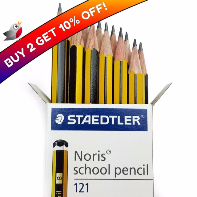 Staedtler Noris Norris Schule Stifte Verpackt Hb - Packung 12 - Buy 2 Bekommen