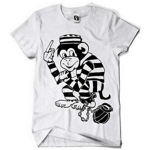 150746c1123 Exclusive Men's T-Shirt - Monkey Jail Design (SB027 - White Tee)