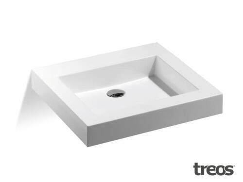 Treos Mineralguss Waschbecken 701.04.1055  Waschtisch ohne Hahnloch