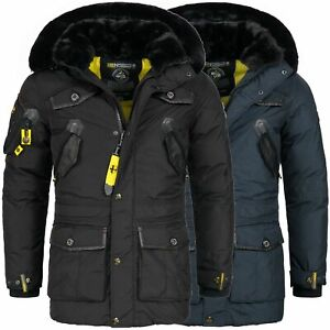 Geographical-Norway-Jacke-Herren-Winter-Mantel-Winterjacke-Parka-Luxus-Ski-OMACR