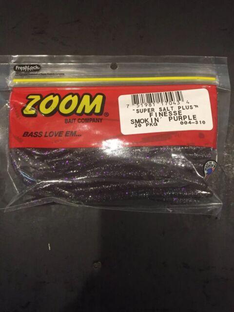 Zoom Super Salt Plus Finesse 20 pkg 004-310 Smokin/' Purple*