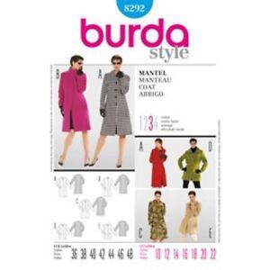 Burda-Style-Schnittmuster-Mantel-Nr-8292