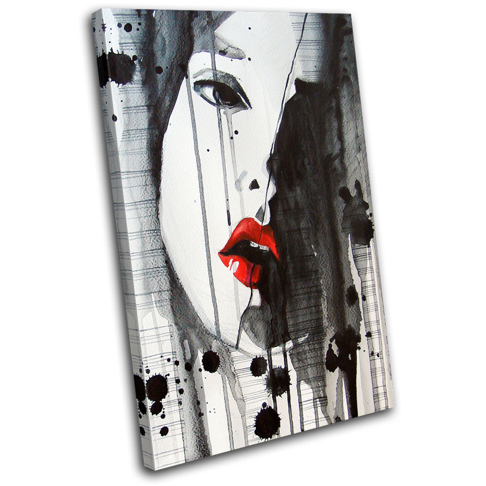 Abstract Lips NUDES Fashion SINGLE TOILE murale ART Photo Print