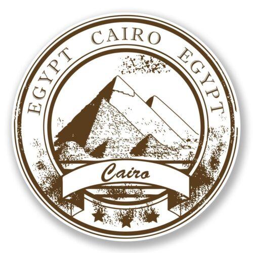 2 X Egipto Pegatina de vinilo Laptop Equipaje de Viaje Coche #6775