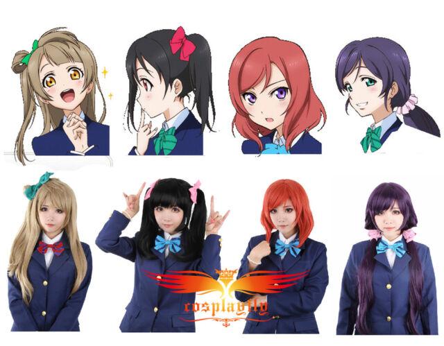 Love Live! Kotori & Niko & Maki & Nozomi Cosplay Wig+Free Wig Cap+Free Shipping