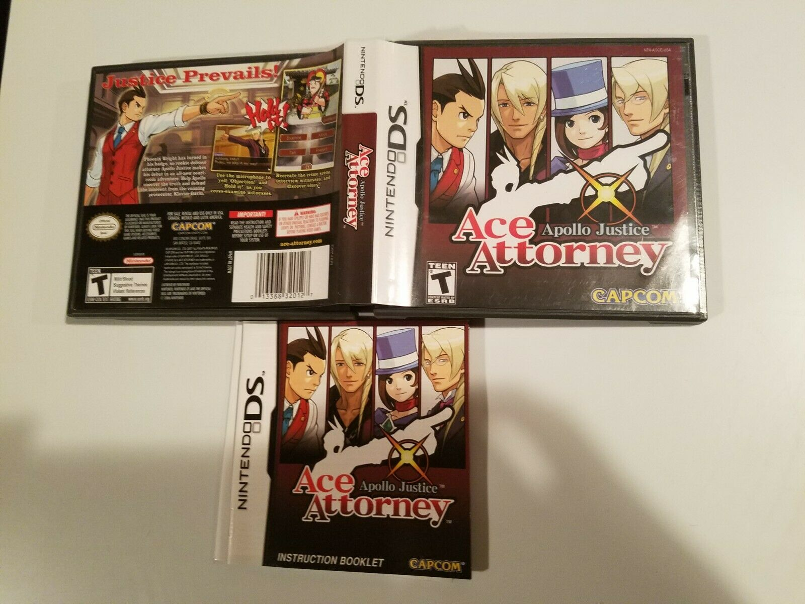 Apollo Justice Ace Attorney (Nintendo DS) Case Artowrk and Manual *NO GAME* 1