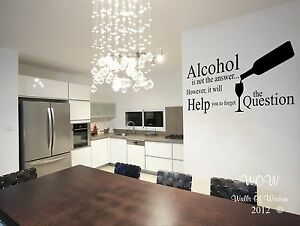 Merveilleux Image Is Loading Funny Adult Alcohol Quotation On Wine Wall Sticker