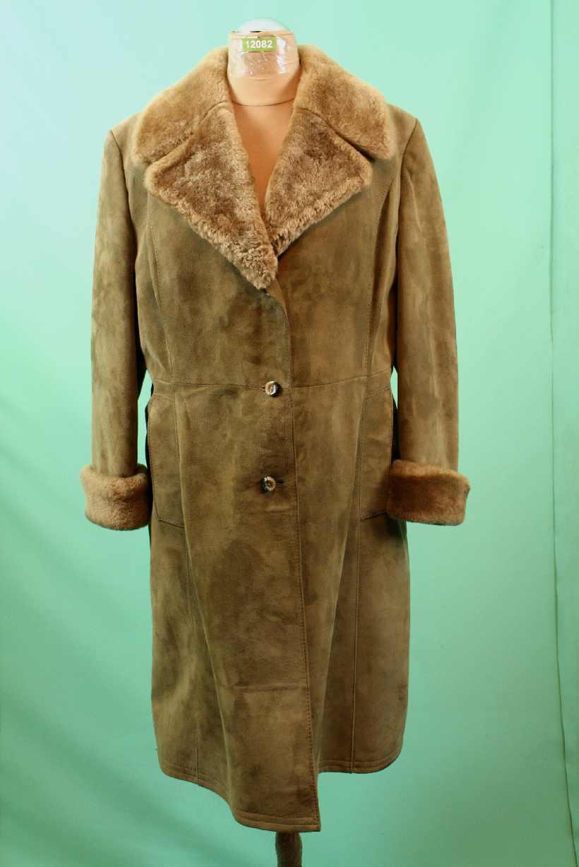 Schöner alter Wild Leder Mantel ca 44 L brown vintage echt Zaren vom Kürschner