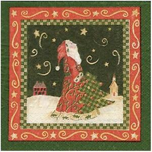 Alice-039-s-Cottage-Starry-Nights-Paper-Cocktail-Napkins-Christmas-FREE-US-SHIPPING