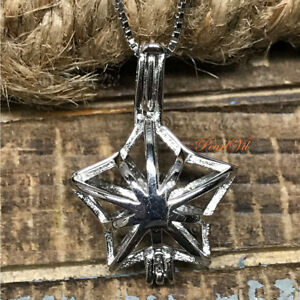 Details about Traveling Star Pearl Cage Pendant 925 Sterling Silver Option  Chain -USA