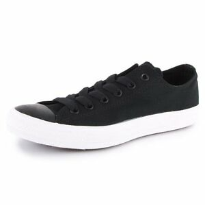 Converse-Ct-Ox-Black-White-Canvas-with-Leather-Toe-Men-039-s-9-NWOB