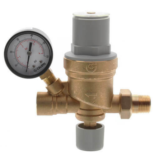 Caleffi 553642A 1/2 NPT AutoFill Boiler Feed Valve With Pressure Gauge