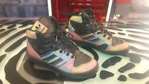 Adidas-Womens-Size-7-Funky-Irridecent-High-Tops-Decent-Shape