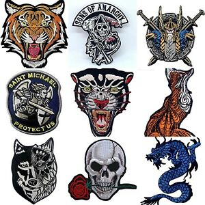 FREE DELIVERY BIKER PATCHES BADGES EMBROIDERED IRON ON SEW ON TAG