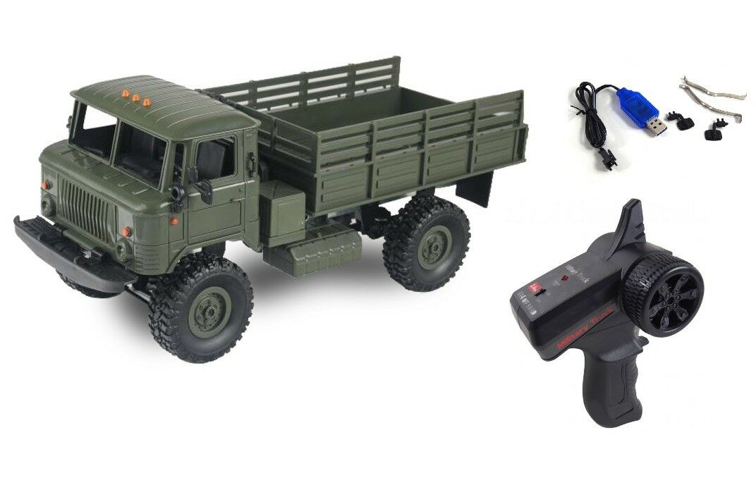RC camion camion gaz-66 4wd 1:16 VERDE RTR incl. BATTERIA e caricabatteria nuovo