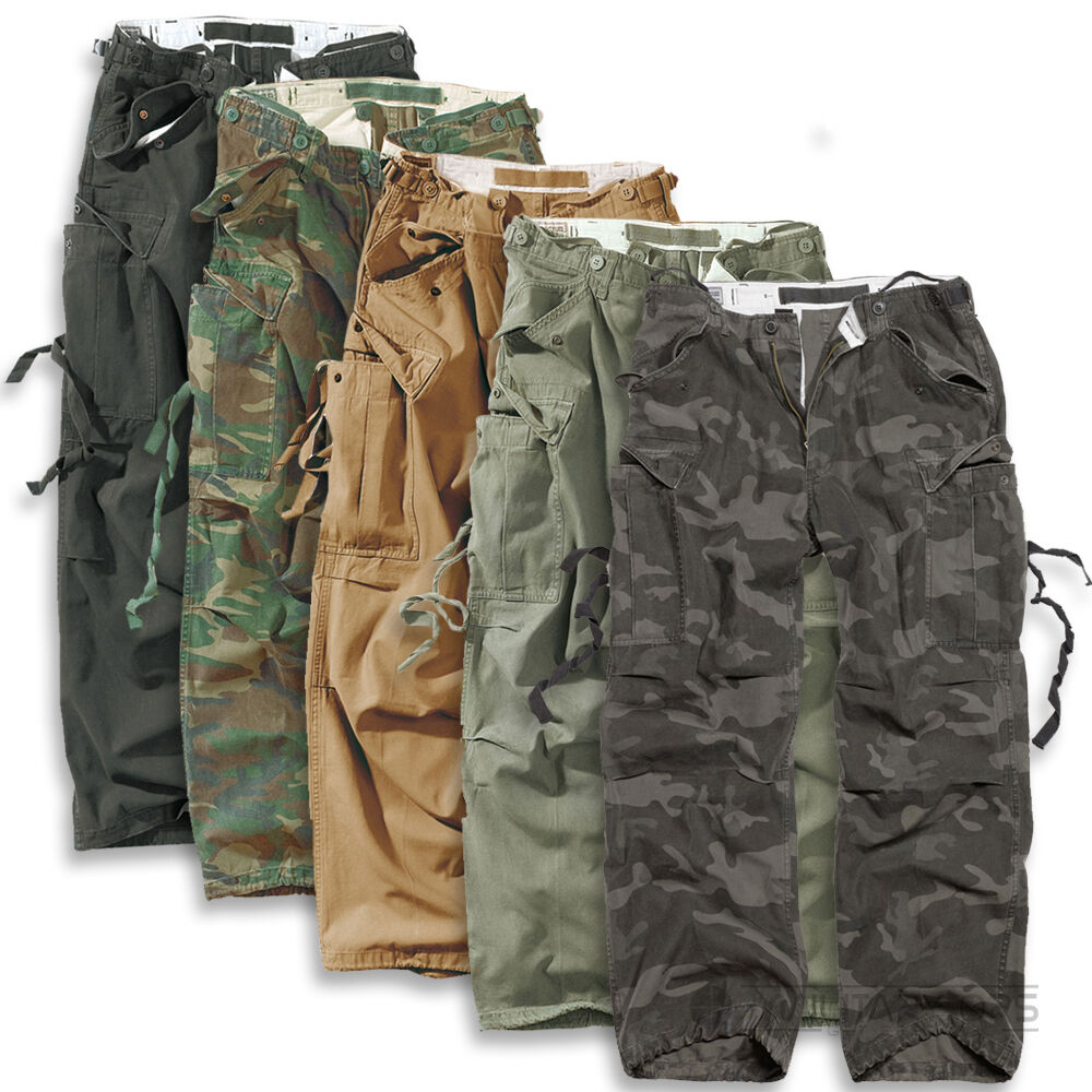 SURPLUS RAW VINTAGE FATIGUES TROUSERS CARGO COMBAT PANTS