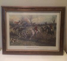 Vintage GEORGE WRIGHT Full Cry Through the Homestead Framed Print Picture