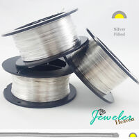 FILLED Sterling Silver Wire, Dead Soft Half Round 6 8 10 12 14 16 18 22 24 Gauge