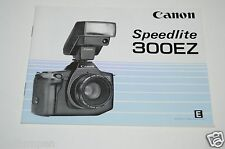 WOW Nice Camera Canon SPEEDLITE 300EZ Manual Instructions HTF 1986