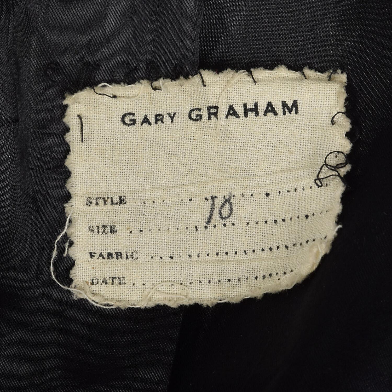 Medium Gary Graham 2000s Wool Princess Coat Charc… - image 8