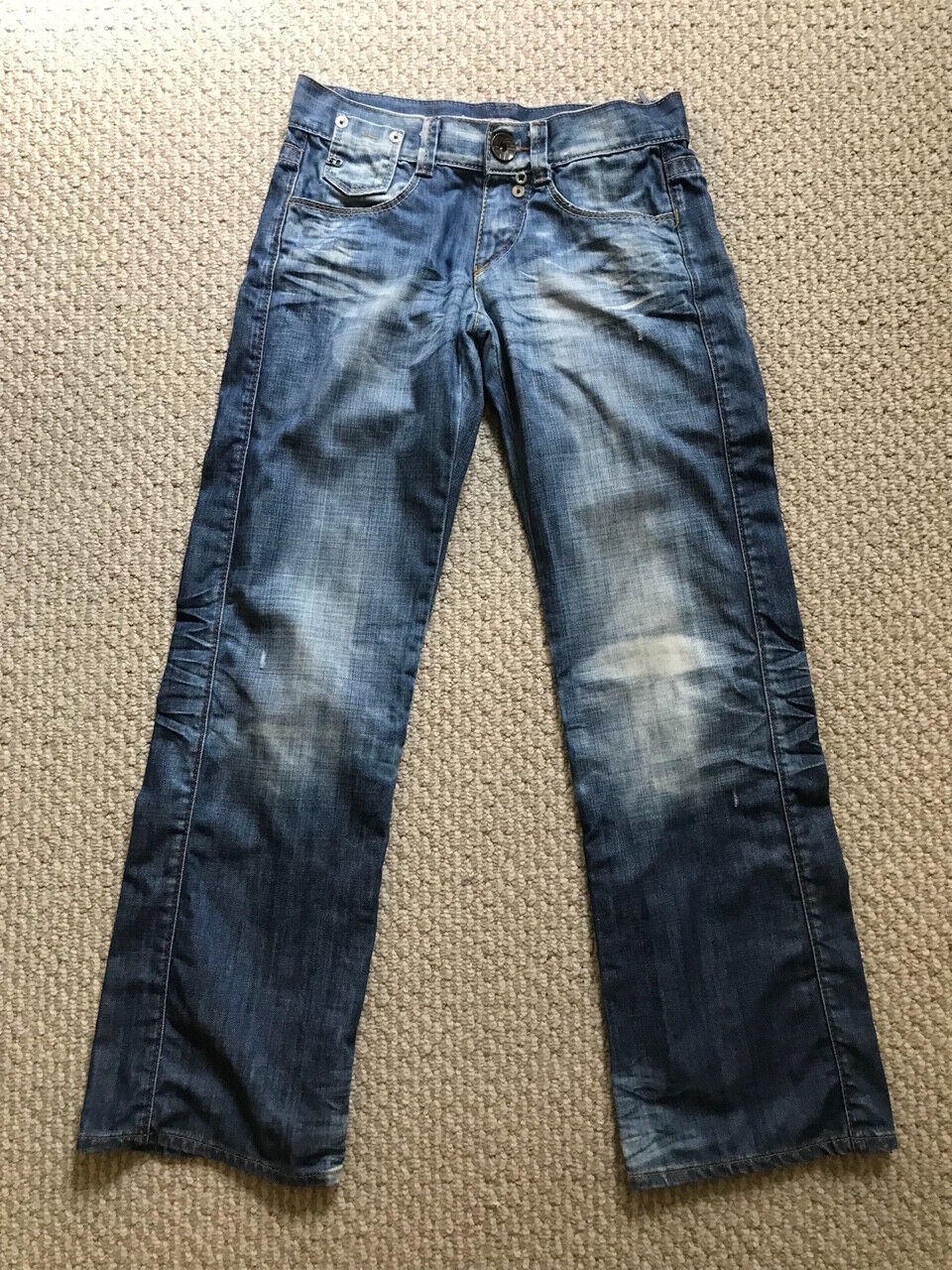 Miss Sixty  Straight Leg Medium bluee Wash Jeans Buttons Size - 25
