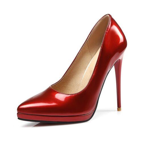 Women Pointy Toe Stilettos High Heels Slip On Dress Shoes All Plus Ladies Ske15