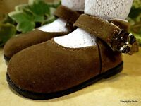 My Twinn Brown Suede Mary Jane W/butterfly Buckle Doll Dress Shoes Fits 23 Doll