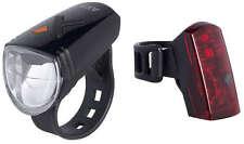 AXA GREENLINE 15 Scheinwerfer Rücklicht Set Fahrrad Beleuchtung USB-Ladekabel