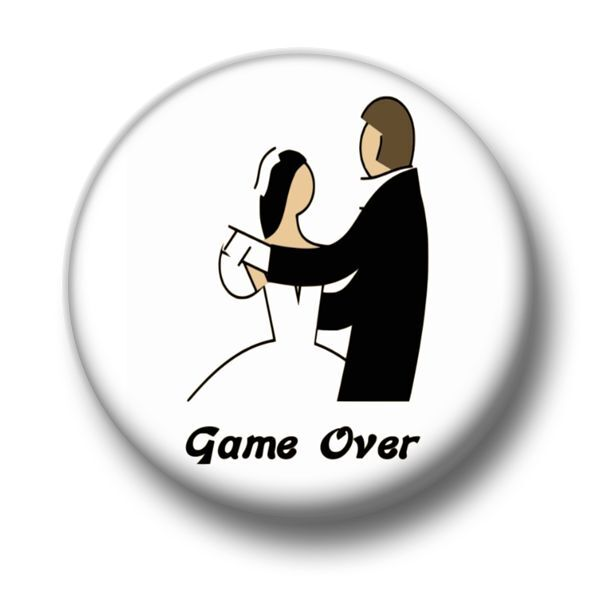 Image of: Anniversary Greeting Game Over Marriage Inch 25mm Pin Button Badge Stag Do Hen Night Humour Fun Ebay Vumalevincom Game Over Marriage Inch 25mm Pin Button Badge Stag Do Hen Night