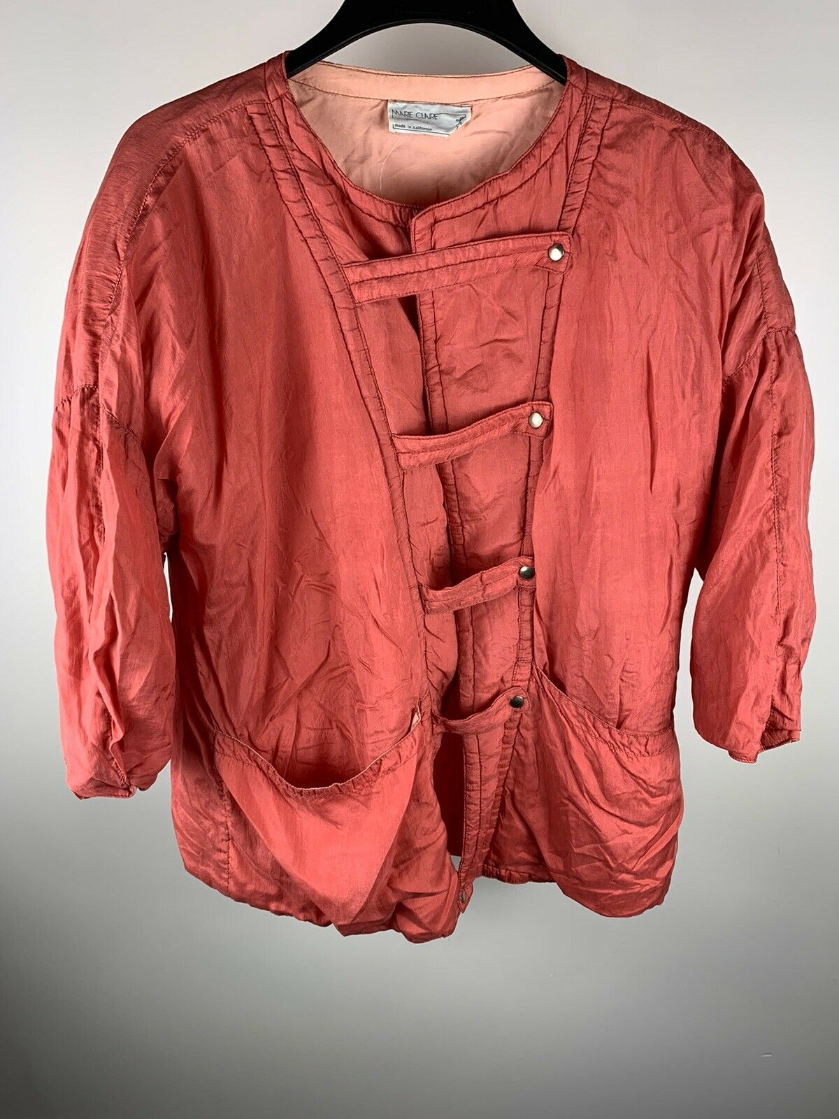 Vintage Womens Marie Claire Pink Jacket Made In C… - image 2