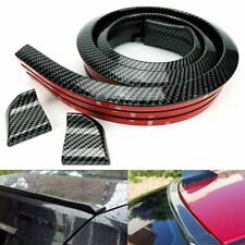 3d Carbon Fiber Car Rear Wing Lip Spoiler Tail Trunk Roof Trim Sticker Protector Fits Saturn Aura