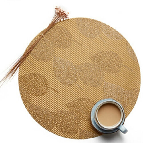 Round Linen Placemats Table Place Mats Kitchen Dinner Table Heat Pads