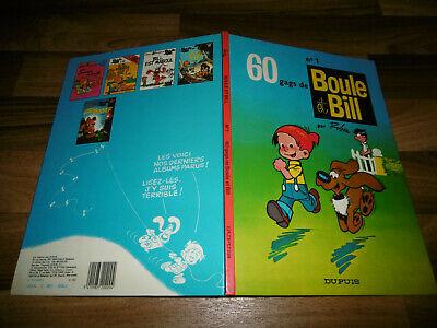 French Hardcover Dupuis 1984 60 Gags De Boule & Bill # 1 Roba
