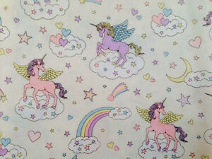Cute-Unicorn-Print-Japanese-Fabric-White-110cm-x-50cm