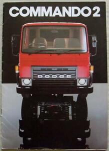 DODGE COMMANDO 2 COMMERCIAL VEHICLES Rigid Sales Brochure Oct 1981 #1161/10/81