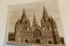 Valentine's Old  Black/White Postcard [8] Real Photograph - Lichfield Cathedral