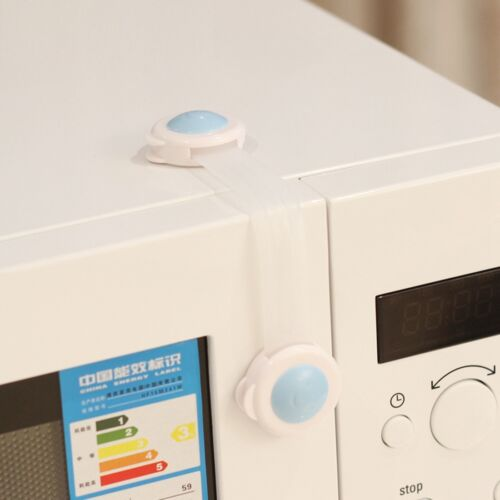 Plastic Adhesive Kids Child Baby Safety Cabinet Door Fridge Drawer Cupboard Lock