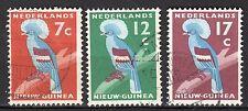 Dutch New Guinea - 1959 Definitives bird - Mi. 54-56 VFU