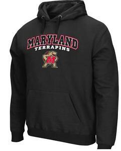 b1085ea3 Details about Men's Colosseum University Maryland Terrapins Black  Performance Hoodie MSRP $60