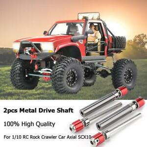 2X-Metall-Antriebswellen-Antriebsachse-fuer-1-10-RC-Rock-Crawler-Auto-Axial-SCX10