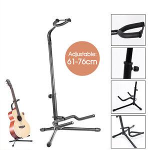 Guitar-Folding-Tripod-Stand-Acoustic-Electric-Gear-Metal-Holder-Black-New-AU