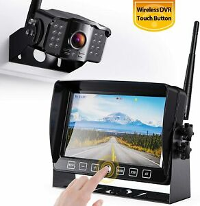 """7"""" Monitor Wired Backup Car Camera Rear View FHD System Kit Night Vision"""