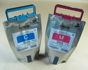 [1270*] 2x (TWO) EPSON R14X INKS - CYAN & MAGENTA ( RRP>$900 )