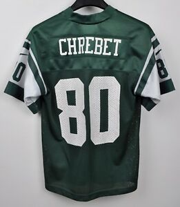 best sneakers ba41d 4e5aa Details about NEW YORK JETS Jersey #80 CHREBET Youth Small KIDS Shirt NFL  American Football S