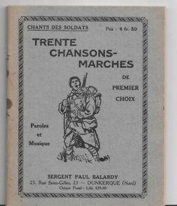 Trente chansons-marches de Sergent Paul Balardy