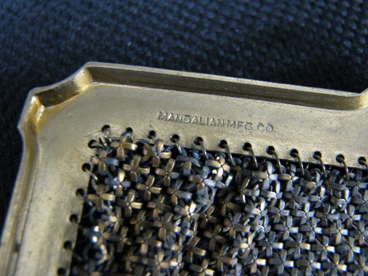 Vtg. Mandalian Mfg Enamel Metal Mesh Flapper Purs… - image 10